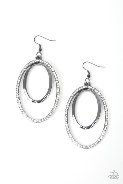 Paparazzi Accessories - Wrapped In Wealth - Black Earrings - JMJ Jewelry Collection