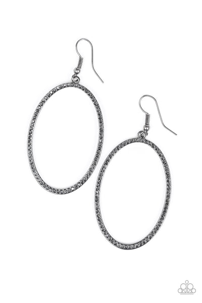 Paparazzi Accessories - Dazzle On Demand - Black Earrings - JMJ Jewelry Collection