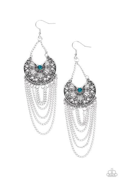 Paparazzi Accessories - So Social Butterfly - Blue Earrings - JMJ Jewelry Collection