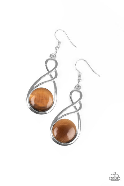 Paparazzi Accessories - Swept Away - Brown Earrings - JMJ Jewelry Collection