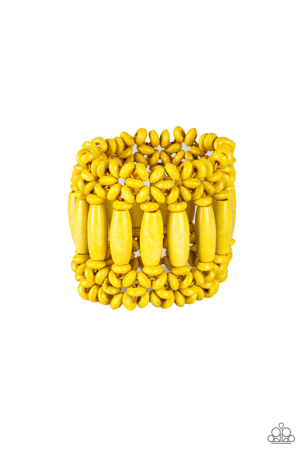Paparazzi Accessories - Barbados Beach Club - Yellow Bracelet - JMJ Jewelry Collection