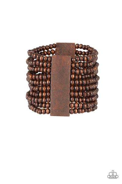 Paparazzi Accessories - JAMAICAN Me Jam - Brown Bracelet - JMJ Jewelry Collection