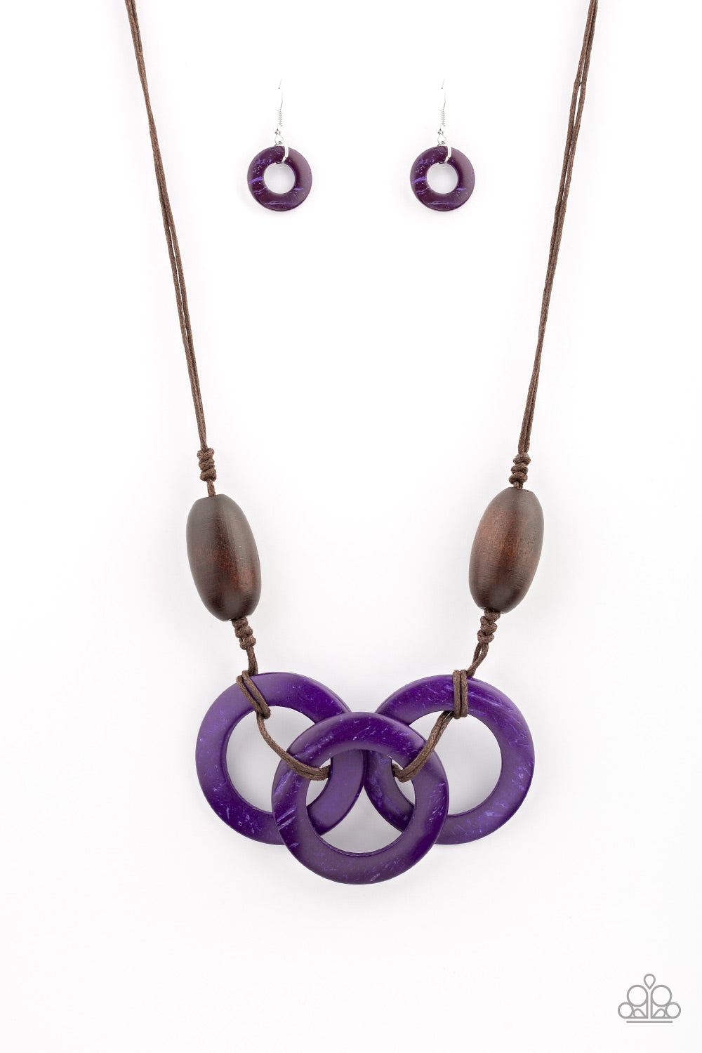 Paparazzi Accessories - Bahama Drama - Purple Necklace Set - JMJ Jewelry Collection