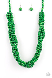 Paparazzi Accessories - Tahiti Tropic - Green Necklace Set - JMJ Jewelry Collection