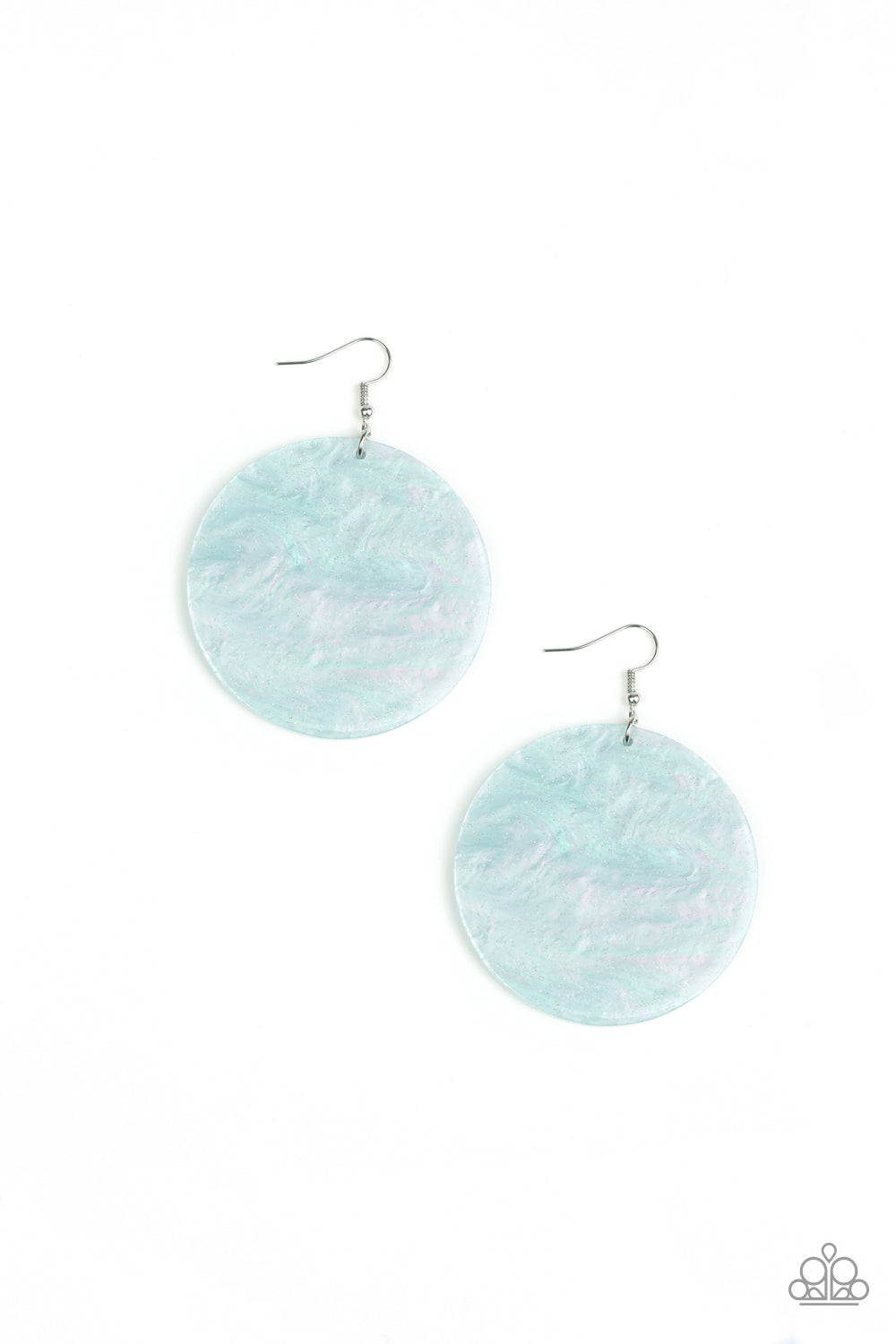 Paparazzi Accessories - SEA Where It Goes - Green Earrings - JMJ Jewelry Collection