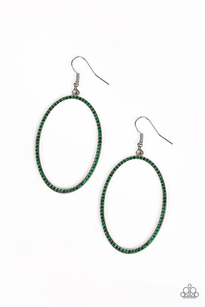 Paparazzi Accessories - Dazzle On Demand - Green Earrings - JMJ Jewelry Collection