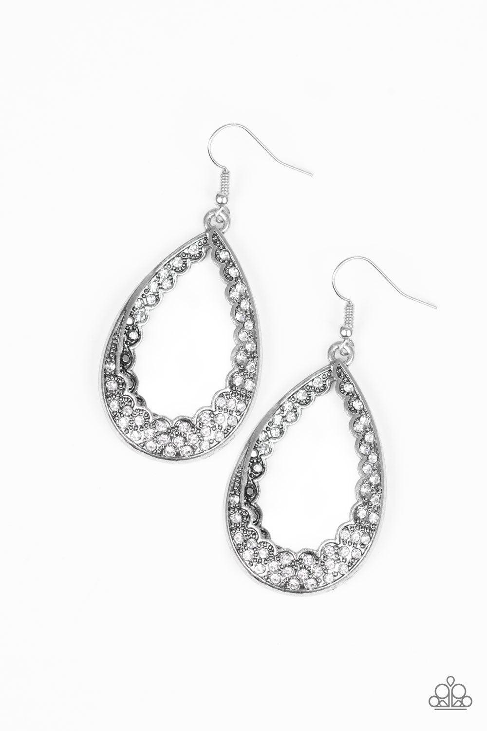 Paparazzi Accessories - Royal Treatment - White Earrings - JMJ Jewelry Collection