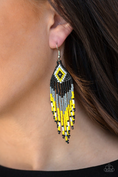 Paparazzi Accessories - Wind Blown Wanderer - Multicolor Earrings - JMJ Jewelry Collection