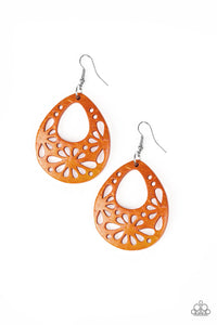 Paparazzi Accessories - Merrily Marooned - Orange Earrings - JMJ Jewelry Collection