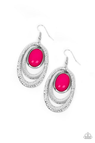 Paparazzi Accessories - Seaside Spinster - Pink Earrings