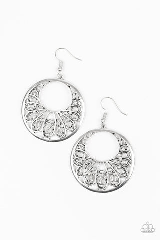 Paparazzi Accessories - Fancy That - White Earrings - JMJ Jewelry Collection