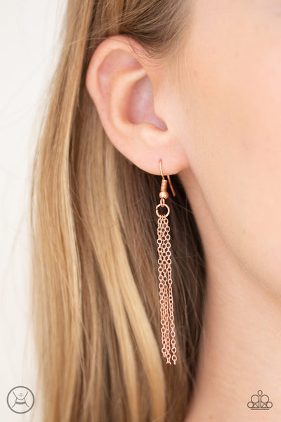 Paparazzi Accessories - Mini Minimalist - Copper Necklace Set - JMJ Jewelry Collection