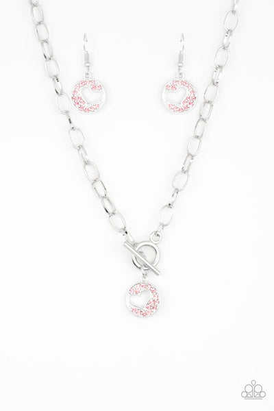 Paparazzi Accessories - Heartbeat Retreat - Pink Necklace Set - JMJ Jewelry Collection