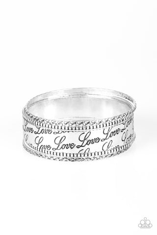 Paparazzi Accessories - Literally Loveable - Silver Bracelets - JMJ Jewelry Collection