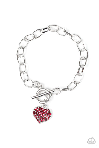 Paparazzi Accessories - Lots of Love - Red Bracelet - JMJ Jewelry Collection