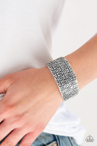 Paparazzi Accessories - Eat Your Heart Out - Silver Bracelets - JMJ Jewelry Collection