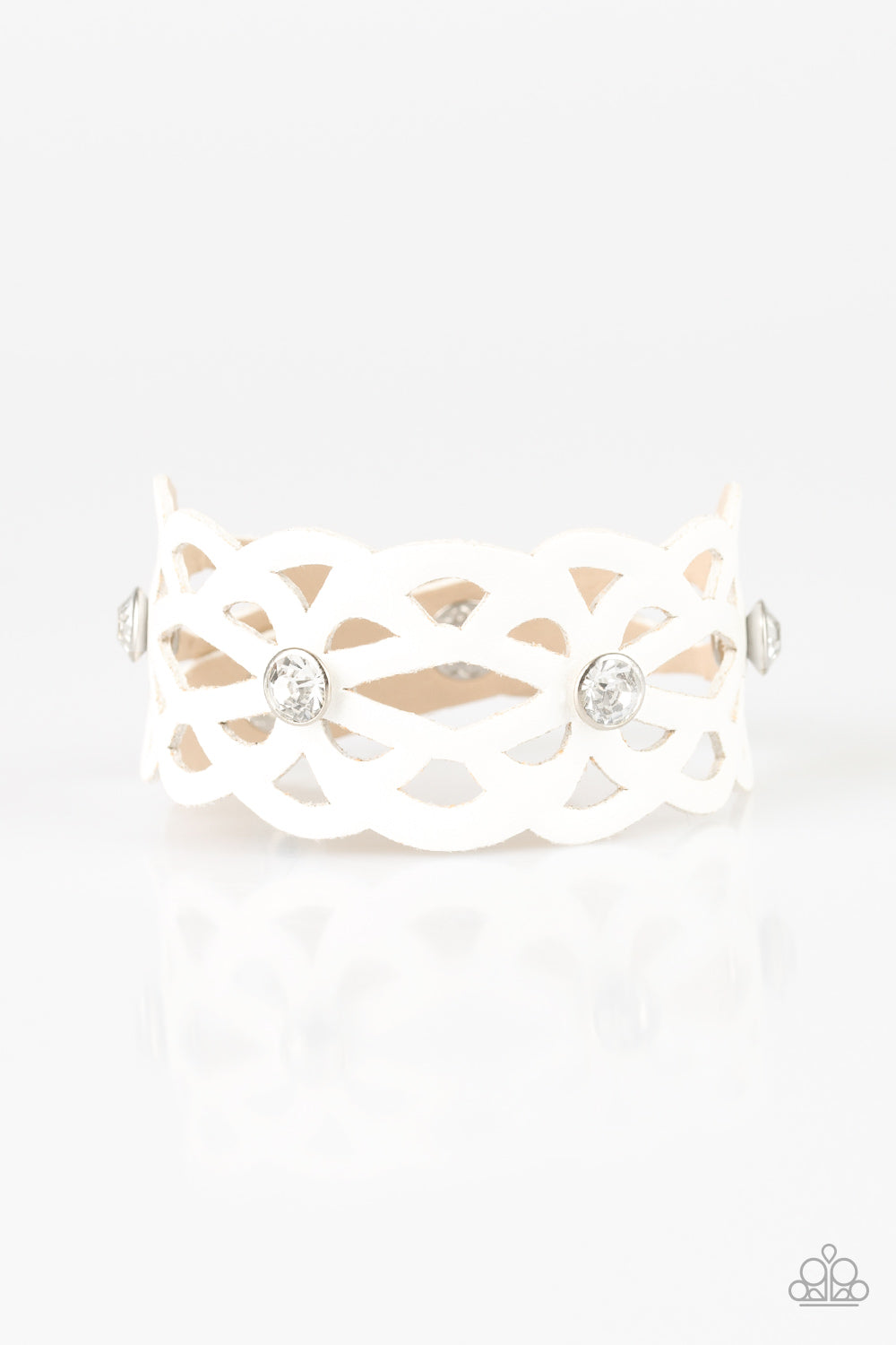 Paparazzi Accessories - Runaway Radiance - White Bracelet - JMJ Jewelry Collection