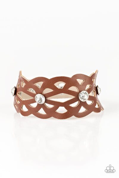 Paparazzi Accessories - Runaway Radiance - Brown Bracelet - JMJ Jewelry Collection