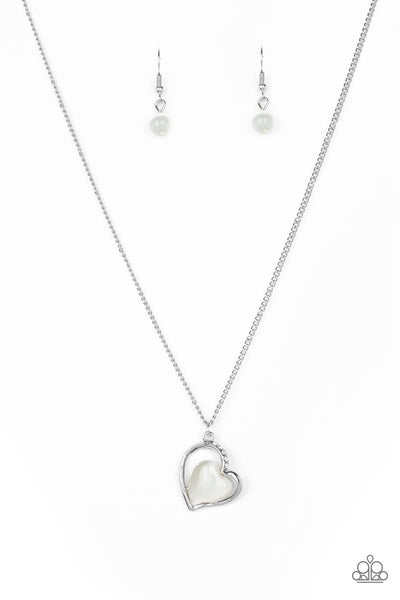 Paparazzi Accessories - Love of My Life - White Necklace Set - JMJ Jewelry Collection