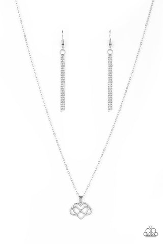 Paparazzi Accessories - Eternal Love - Silver Necklace Set - JMJ Jewelry Collection