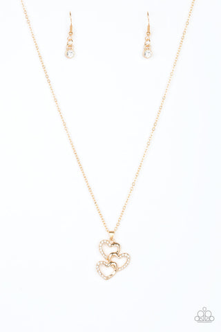 Paparazzi Accessories - Heart of Hearts - Gold Necklace Set - JMJ Jewelry Collection