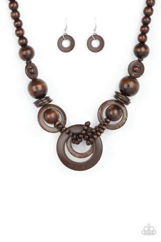Paparazzi Accessories - Boardwalk Party - Brown Necklace Set - JMJ Jewelry Collection
