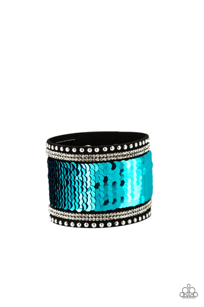 Paparazzi Accessories - MERMAIDS Have More Fun - Blue Bracelets - JMJ Jewelry Collection