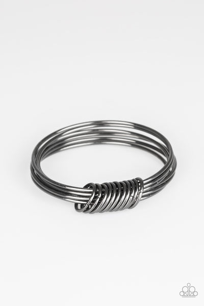 Paparazzi Accessories - Full Revolution - Black Bracelet - JMJ Jewelry Collection