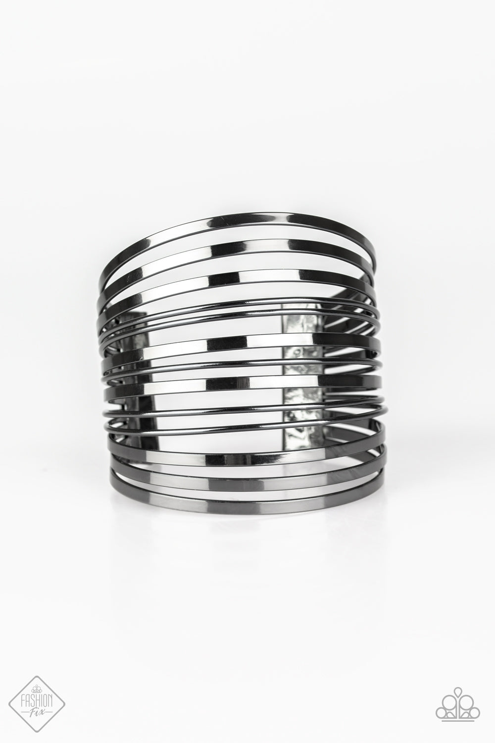 Paparazzi Accessories - Front Line Shine - Gunmetal Bracelet - JMJ Jewelry Collection