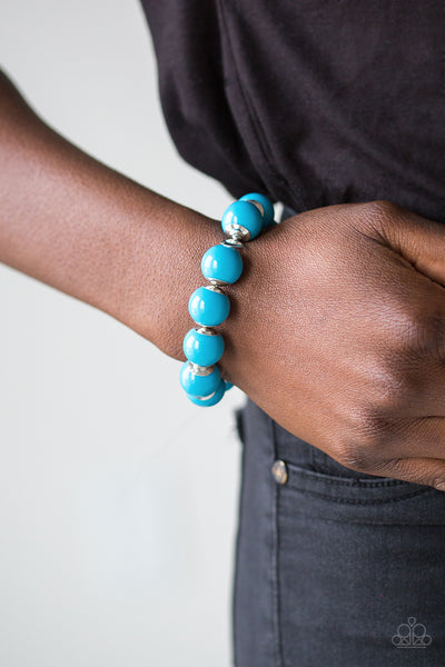 Paparazzi Accessories - Candy Shop Sweetheart - Blue Bracelet - JMJ Jewelry Collection