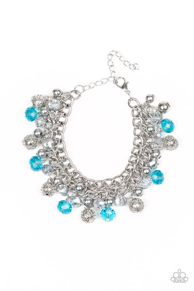 Paparazzi Accessories - The Party Planner - Blue Bracelet - JMJ Jewelry Collection