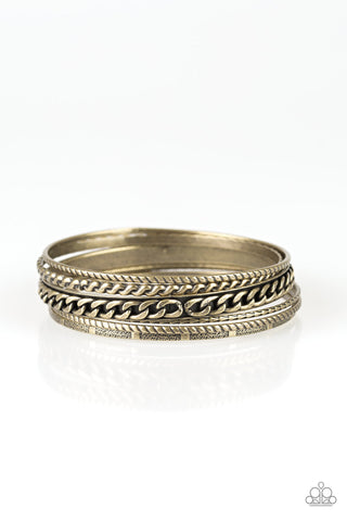 Paparazzi Accessories - Mayan Mix - Brass Bracelet - JMJ Jewelry Collection
