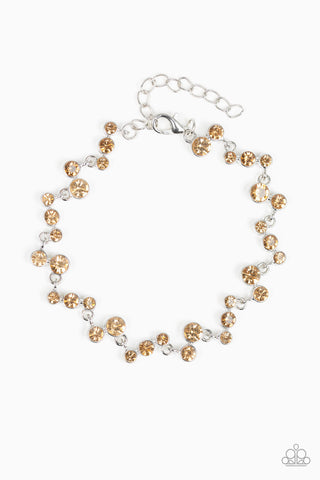 Paparazzi Accessories - Starlit Stunner - Brown Bracelet