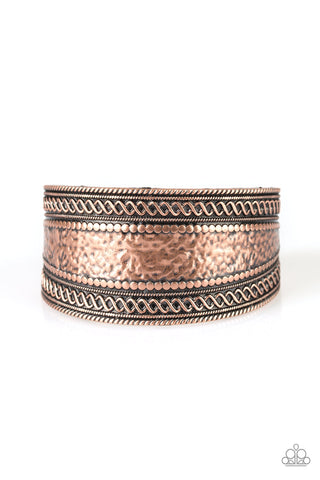 Paparazzi Accessories - Adobe Adventure - Copper Bracelet - JMJ Jewelry Collection