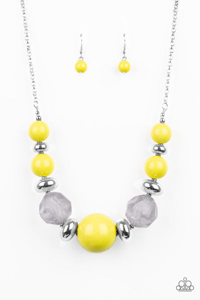 Paparazzi Accessories - Daytime Drama - Yellow Necklace Set - JMJ Jewelry Collection