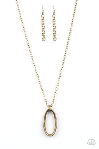 Paparazzi Accessories - Grit Girl - Brass Necklace Set - JMJ Jewelry Collection