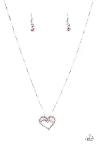 Paparazzi Accessories - Heart To HEARTTHROB - Pink Necklace Set - JMJ Jewelry Collection