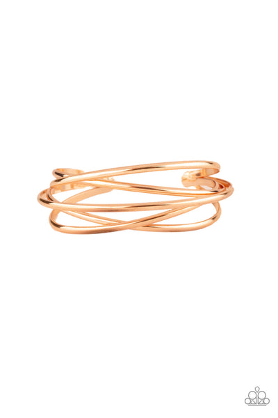 Paparazzi Accessories - Modest Goddess - Rose Gold Bracelet - JMJ Jewelry Collection