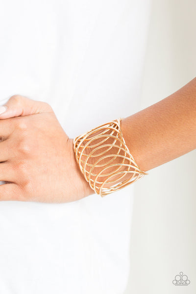 Paparazzi Accessories - Dizzyingly Diva - Gold Bracelet - JMJ Jewelry Collection