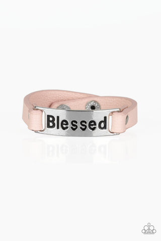 Paparazzi Accessories - Count Your Blessings - Pink Bracelet