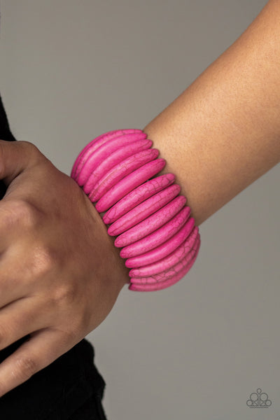 Paparazzi Accessories - Naturally Nomad - Pink Bracelet - JMJ Jewelry Collection