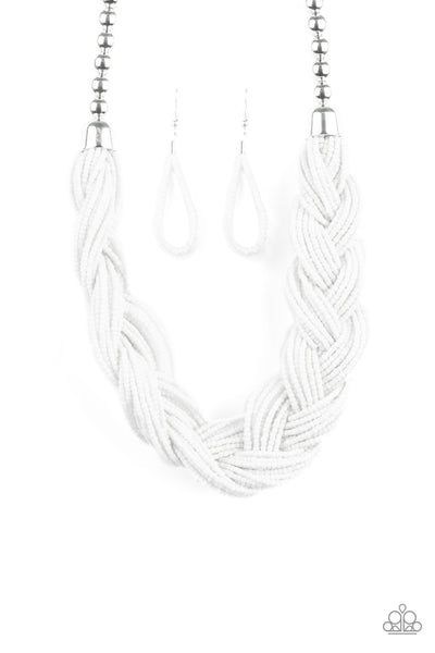 Paparazzi Accessories - The Great Outback - White Necklace Set - JMJ Jewelry Collection