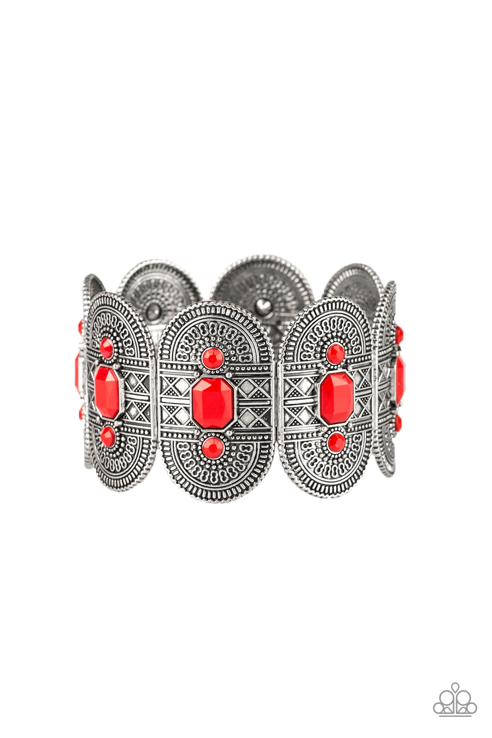 Paparazzi Accessories - Turn Up The TROPICAL Heat - Red Bracelet - JMJ Jewelry Collection