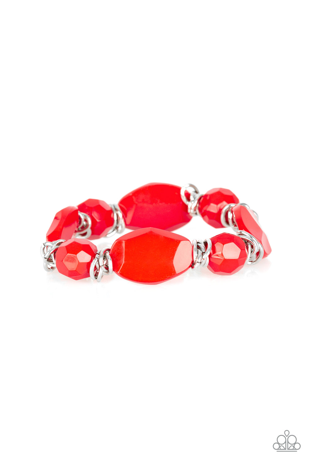 Paparazzi Accessories - Savor The Flavor - Red Bracelet - JMJ Jewelry Collection