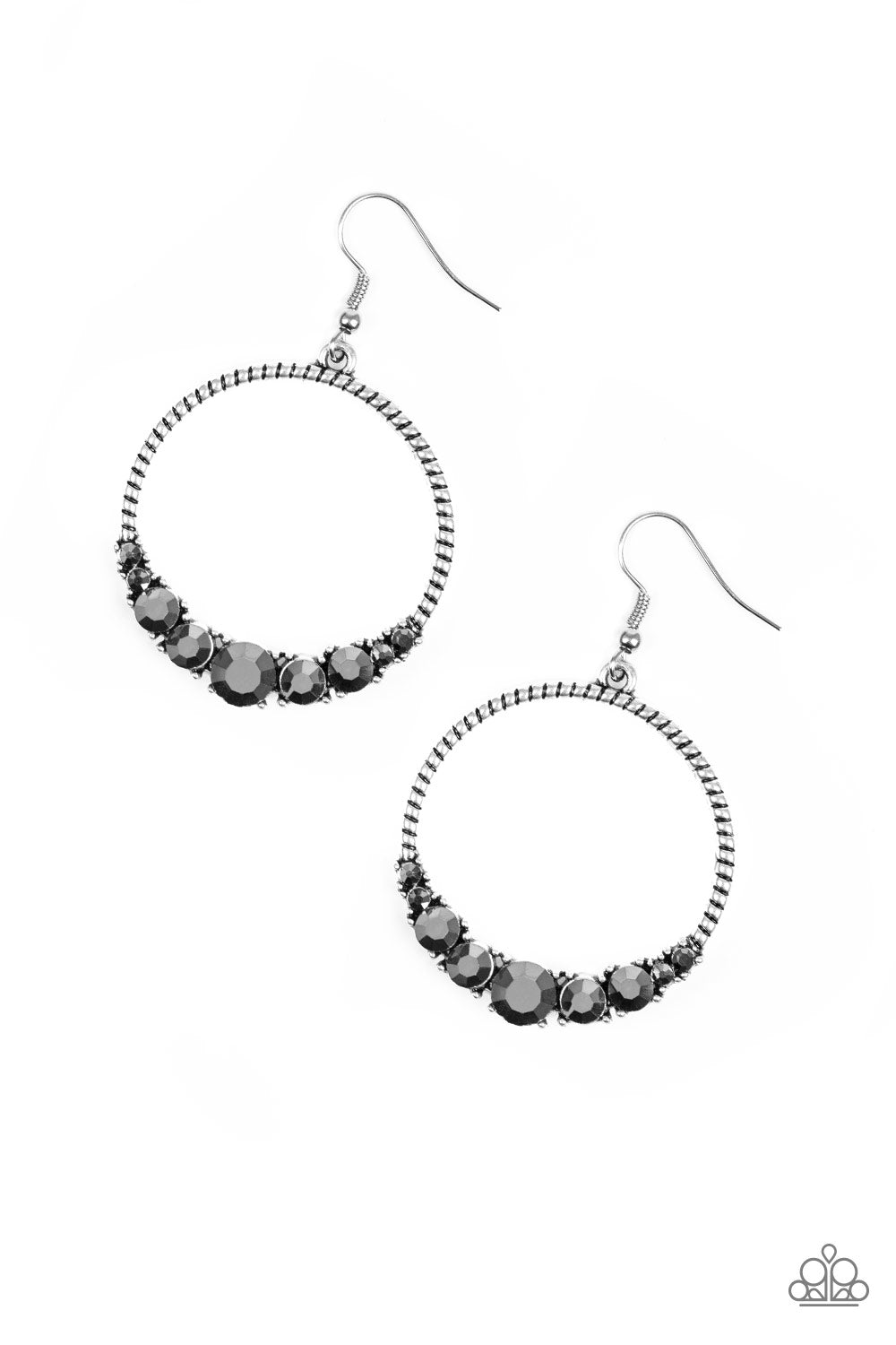Paparazzi Accessories - Self-Made Millionaire - Silver Earrings - JMJ Jewelry Collection