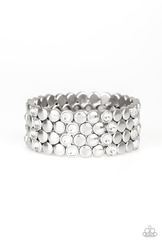 Paparazzi Accessories - Scattered Starlight - White Bracelet