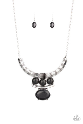 Paparazzi Accessories - Commander In CHIEFETTE - Black Necklace