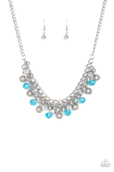Paparazzi Accessories - Party Spree - Blue Necklace Set - JMJ Jewelry Collection