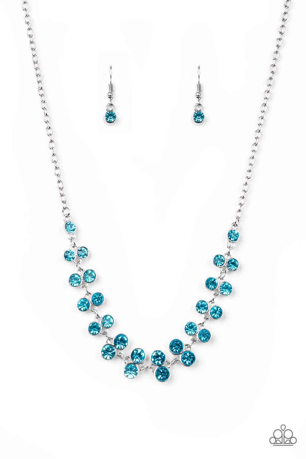 Paparazzi Accessories - Super Starstruck - Blue Necklace Set - JMJ Jewelry Collection