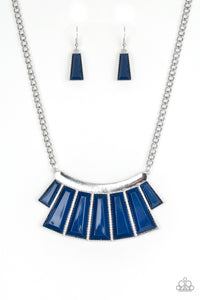 Paparazzi Accessories - Glamour Goddess - Blue Necklace Set - JMJ Jewelry Collection